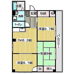 愛知県名古屋市港区明正1丁目の賃貸マンションの間取り
