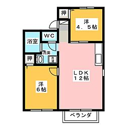 サンコーポ瀬戸口D棟[2階]の間取り