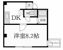 兵庫県西宮市社家町の賃貸マンションの間取り