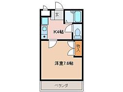 プルーリオン98[3階]の間取り