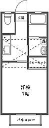 東京都大田区西糀谷3丁目の賃貸アパートの間取り