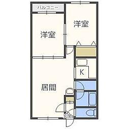 プリンス札幌[2階]の間取り