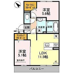 ロイヤルハイツII[3階]の間取り