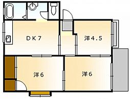 高崎ハイツ C棟[1階]の間取り