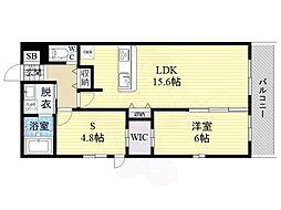 ナカノハイツパート8 4階1SLDKの間取り