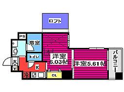 ARTIS仙台木町通 1階1SKの間取り