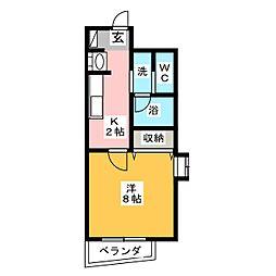 SHINKO TASHIRO[7階]の間取り