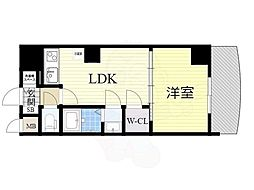 Osaka Metro御堂筋線 新大阪駅 徒歩5分の賃貸マンション 23階1LDKの間取り