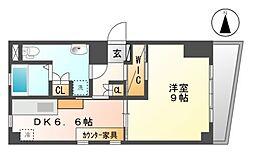 キャストビル泉[4階]の間取り
