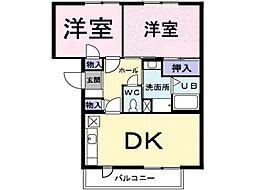 プレンティナカヤマ[206号室]の間取り