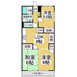 長丘タウンハウス[3階]の間取り
