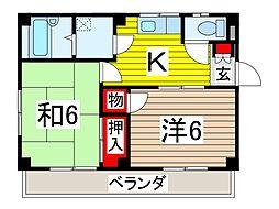 北田マンション[1階]の間取り