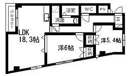 MYフラワーマンション[3B号室]の間取り