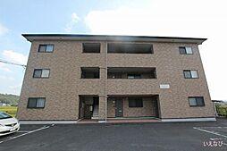 広島県福山市神辺町字徳田の賃貸マンションの外観