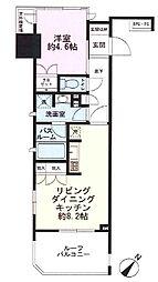ライオンズアイル赤坂[12階]の間取り