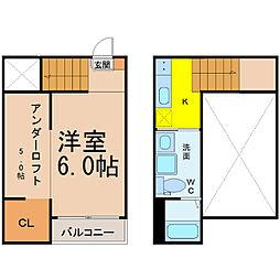 名古屋市営桜通線 野並駅 徒歩5分の賃貸アパート 1階1SKの間取り