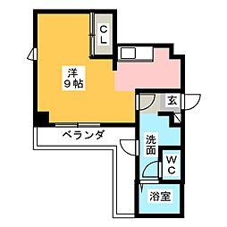メゾンドール[4階]の間取り