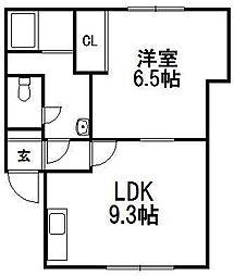 ラモナ[2階]の間取り