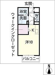 楽園 A[2階]の間取り