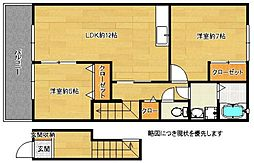 福岡県福岡市東区香椎3丁目の賃貸アパートの間取り