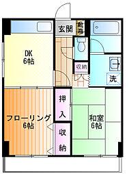 相沢第2ビル[1f号室]の間取り