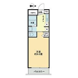 ライオンズマンション西長堀[11階]の間取り