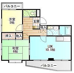 第三杉山ビル[205号室]の間取り