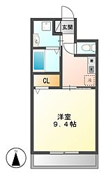 アベニュー笠寺[4階]の間取り