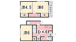 [一戸建] 兵庫県姫路市西今宿3丁目 の賃貸【兵庫県 / 姫路市】の間取り