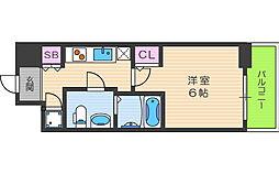 JR大阪環状線 野田駅 徒歩7分の賃貸マンション 7階1Kの間取り