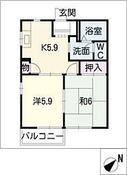 サニーコート亀崎 B棟[2階]の間取り