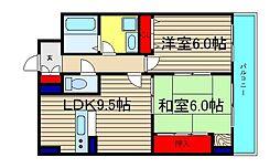 カサパルコ敷津[7階]の間取り