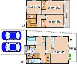[テラスハウス] 兵庫県芦屋市津知町 の賃貸【/】の間取り