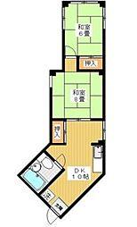 島田ビル bt[2階]の間取り