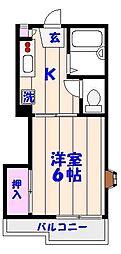 千葉県船橋市海神3丁目の賃貸アパートの間取り