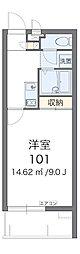 沖縄都市モノレール てだこ浦西駅 3.3kmの賃貸マンション 2階1Kの間取り