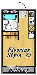 フローラ8[1階]の間取り