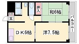フタバハイツ[5階]の間取り