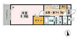 東京都小金井市梶野町5丁目の賃貸マンションの間取り
