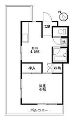 アイビーハイム[4階]の間取り