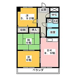 N'S餐霞園[1階]の間取り