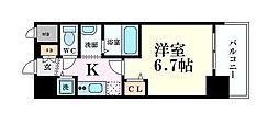 インザグレイス梅田北 9階1Kの間取り