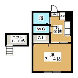 ティアラハウス鶴ヶ谷[1階]の間取り