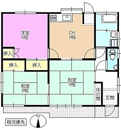 [一戸建] 長野県長野市稲里町中氷鉋 の賃貸【/】の間取り