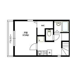 JR南武線 平間駅 徒歩11分の賃貸アパート 3階1Kの間取り