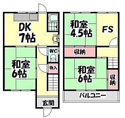 [一戸建] 大阪府高石市東羽衣6丁目 の賃貸【/】の間取り