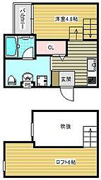 REVE住之江[101号室]の間取り