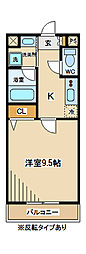 東京都府中市小柳町2丁目の賃貸マンションの間取り