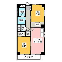 OS・SKYマンション小幡[7階]の間取り
