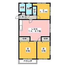メゾン東栄[3階]の間取り